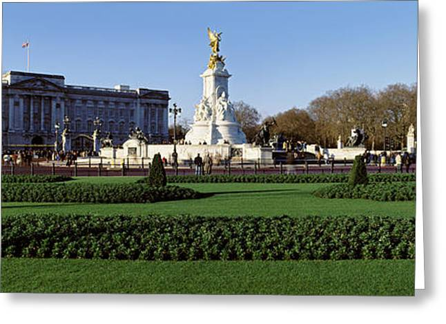 Buckingham Palace Greeting Cards - Queen Victoria Memorial At Buckingham Greeting Card by Panoramic Images