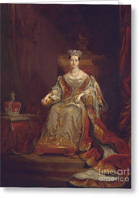 Monarchy Greeting Cards - Queen Victoria Greeting Card by Sir George Hayter
