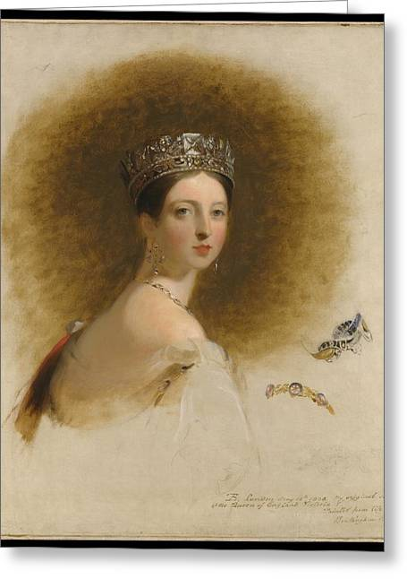 Sully Greeting Cards - Queen Victoria Greeting Card by Thomas Sully