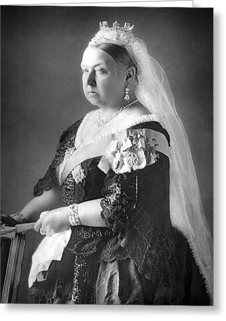 Royal Family Arts Greeting Cards - Queen Victoria Greeting Card by Unknown