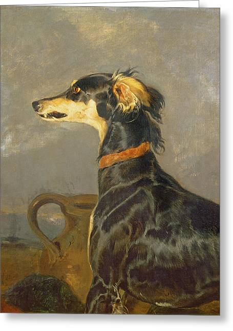 Queen Victorias Favourite Dog, Eos Greeting Card by Sir Edwin Landseer