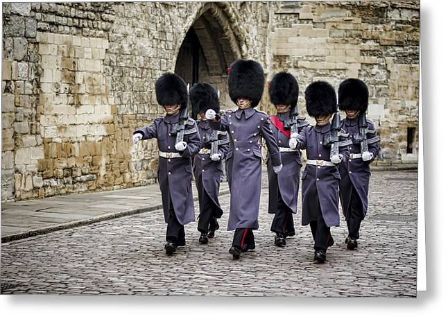 British Royalty Greeting Cards - Queens Guard Greeting Card by Heather Applegate