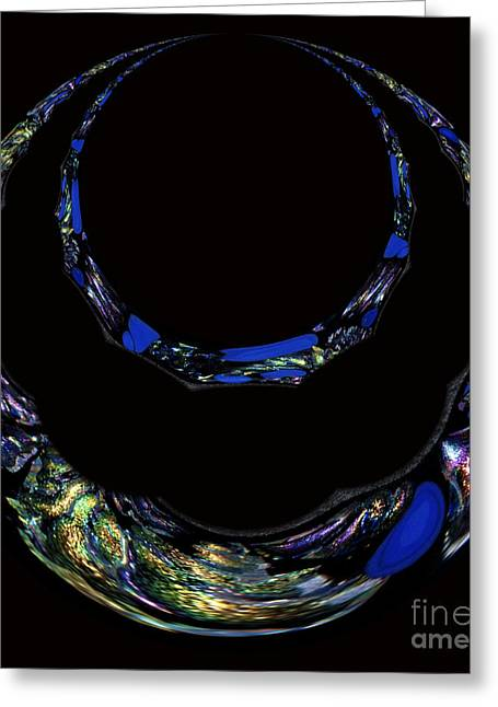 Gold Necklace Greeting Cards - Queens Jewelry Greeting Card by Cheryl Young