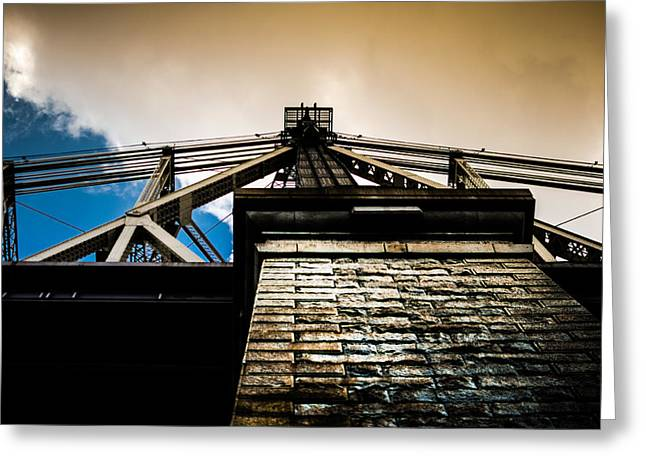 Queensboro Bridge Greeting Card by Joshua Ayers