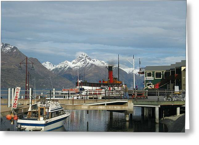 Joyce Woodhouse Greeting Cards - Queenstown New Zealand  Greeting Card by Joyce Woodhouse