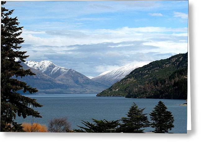 Joyce Woodhouse Greeting Cards - Queenstown South Island of New Zealand Greeting Card by Joyce Woodhouse