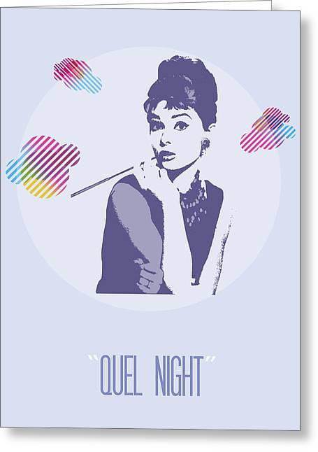 Jewelry Posters Greeting Cards - Quel Night Greeting Card by Florian Rodarte