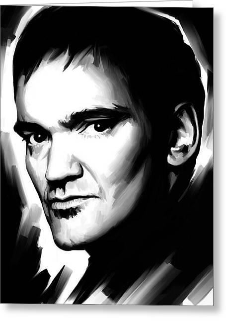 Screenwriter Greeting Cards - Quentin Tarantino Artwork 2 Greeting Card by Sheraz A