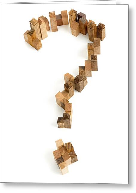 Making Toys Greeting Cards - Question mark Greeting Card by Yury Maselov