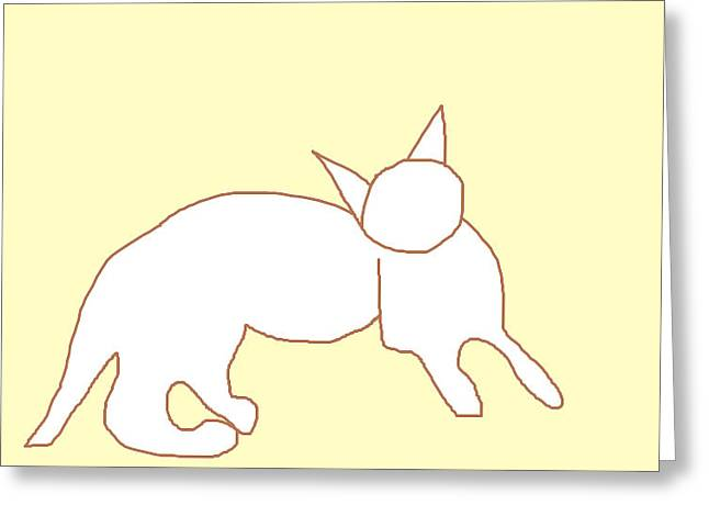Rescue Drawings Greeting Cards - Questioning Theo Greeting Card by Anita Dale Livaditis