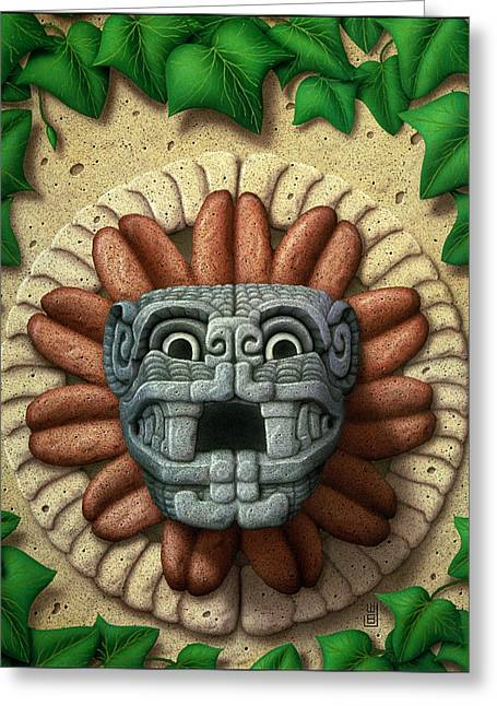 Feathers Sculptures Greeting Cards - Quetzalcoatl Greeting Card by WB Johnston