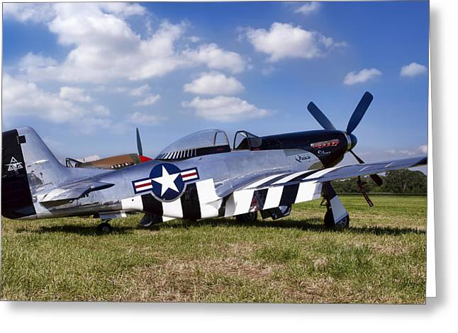 Quick Silver P-51 Color Greeting Card by Peter Chilelli