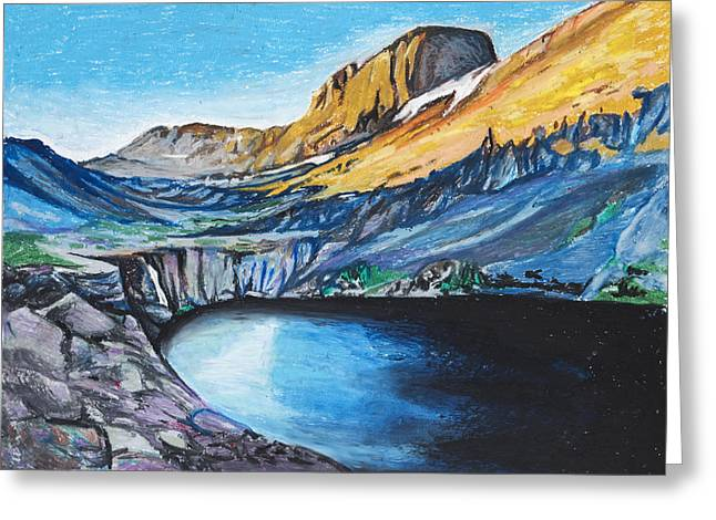 Recently Sold -  - Willow Lake Greeting Cards - Quick Sketch - Kit Carson Peak Greeting Card by Aaron Spong