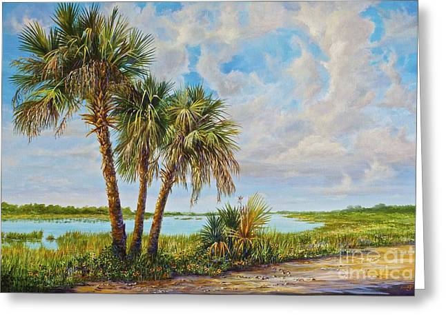 Wildlife Refuge. Paintings Greeting Cards - Quiet Greeting Card by AnnaJo Vahle