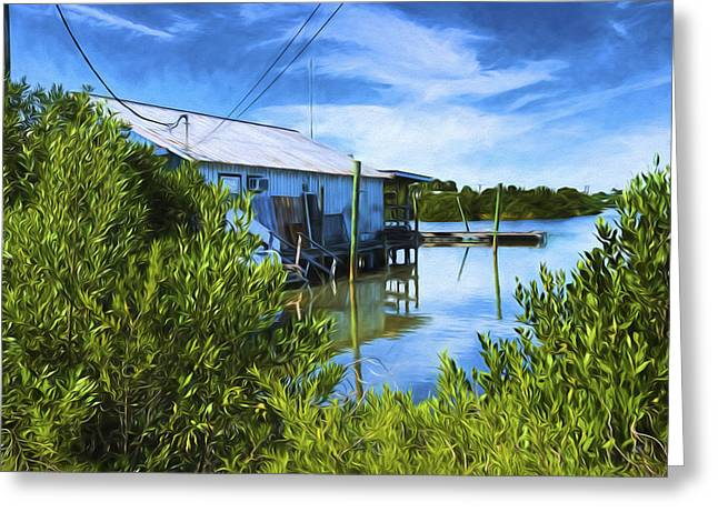 Cedar Key Greeting Cards - Quiet At Cedar Key Greeting Card by Lewis Mann