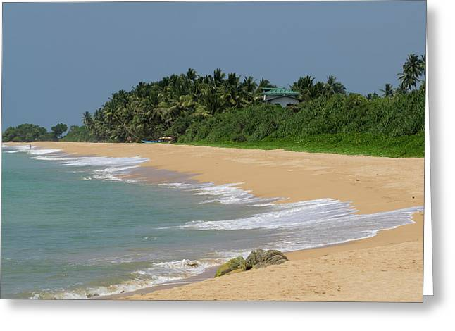Quiet Beach Along A2 Road, Bentota Greeting Card by Panoramic Images