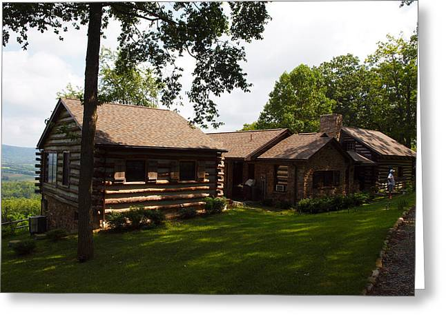Quiet Cabin On A Hill Greeting Card by Robert Margetts