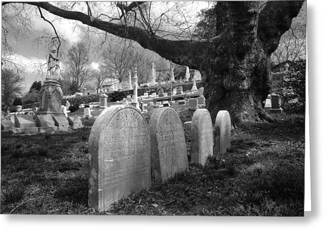 Quiet Cemetery Greeting Card by Jennifer Ancker