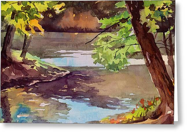 Quiet Cove Greeting Card by Spencer Meagher