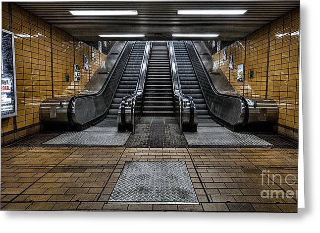 Subway Greeting Cards - Quiet day Greeting Card by John Farnan