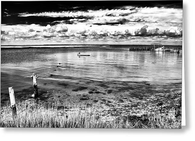 Boats On Water Greeting Cards - Quiet Day Greeting Card by John Rizzuto