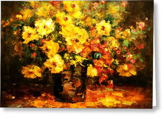 Sepia Greeting Cards - Quiet Desires - Impressionism  Greeting Card by Georgiana Romanovna