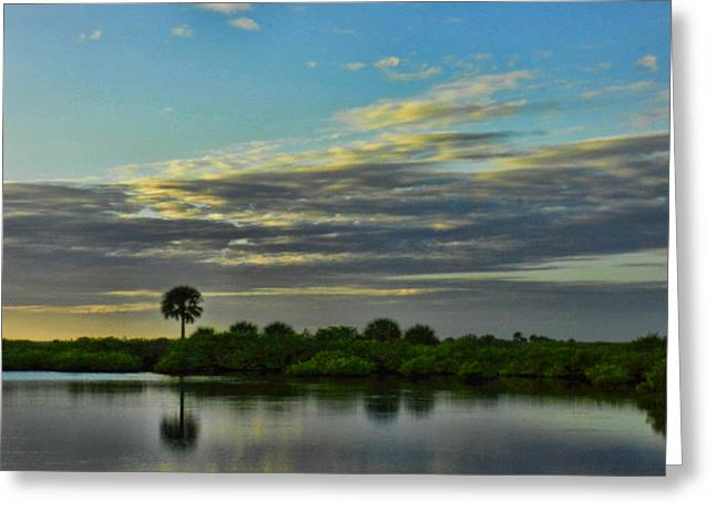 Merrit Greeting Cards - Quiet Dusk Greeting Card by Grace Dillon