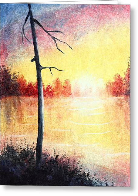 Quiet Evening By The River Greeting Card by Nirdesha Munasinghe