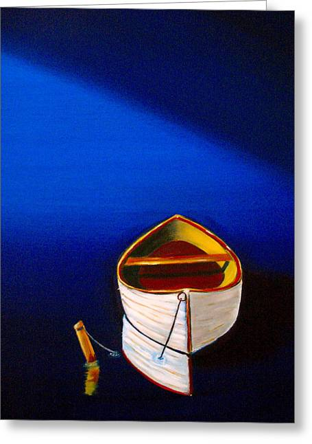 Pill Paintings Greeting Cards - Quiet Harbor Greeting Card by Frank B Shaner