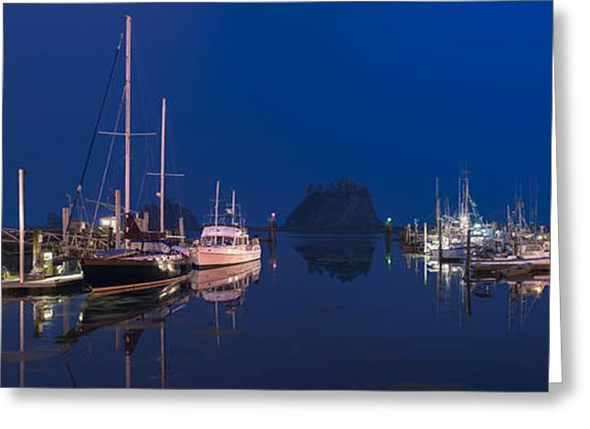 Original Art Photographs Greeting Cards - Quiet Harbor Greeting Card by Jon Glaser