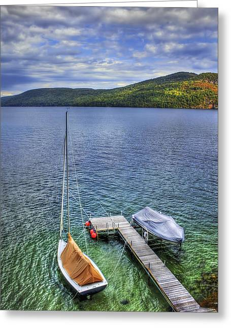 Calm Waiting Greeting Cards - Quiet Jetty Greeting Card by Evelina Kremsdorf