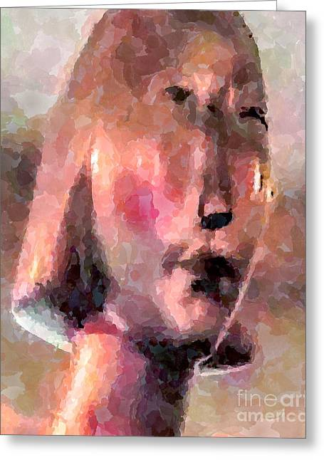 Guise Greeting Cards - Quiet Lisa Greeting Card by GabeZ Art