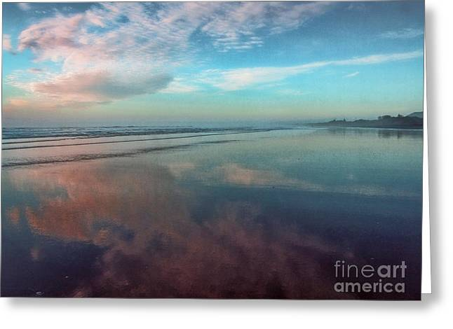 Ocean. Reflection Greeting Cards - Quiet Moment Greeting Card by Karen Lewis