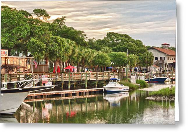 Mike Covington Greeting Cards - Quiet Morning at the Inlet II Greeting Card by Mike Covington