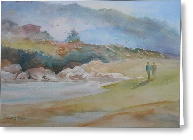 And Sand-mix Greeting Cards - Quiet Morning Greeting Card by John  Svenson