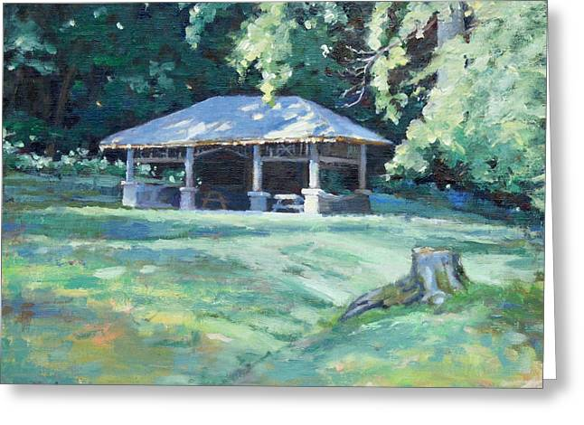 Recently Sold -  - Edwin Warner Park Greeting Cards - Quiet Resting Place Greeting Card by Sandra Harris