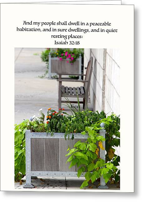 Peaceable Greeting Cards - Quiet Resting Places Greeting Card by Debbie Nobile