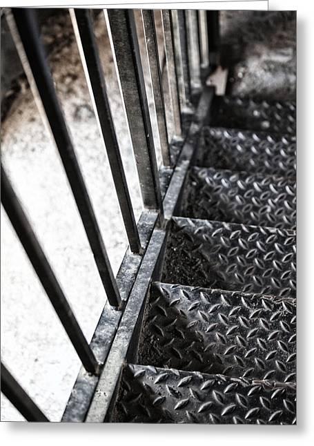 Quiet Stairwell Greeting Card by Karol Livote