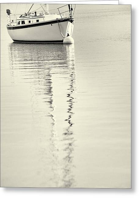 Reflecting Water Greeting Cards - Quiet Water Greeting Card by Karol  Livote