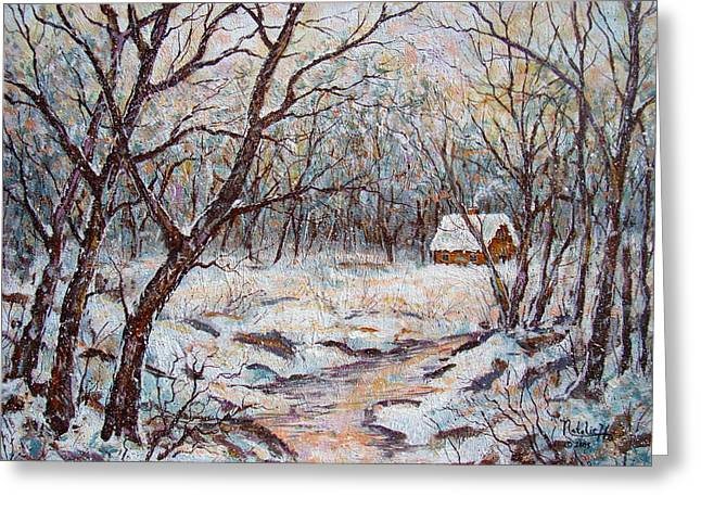 Winter In Maine Greeting Cards - Quiet Winter. Greeting Card by Natalie Holland