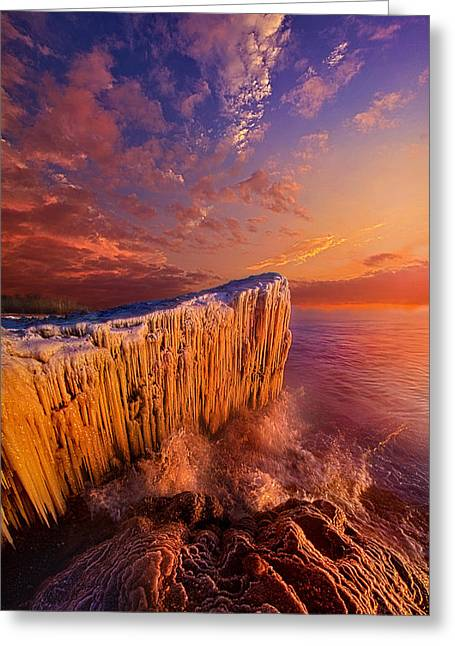 Lake Photography Greeting Cards - Quietly Winter Reigns Greeting Card by Phil Koch