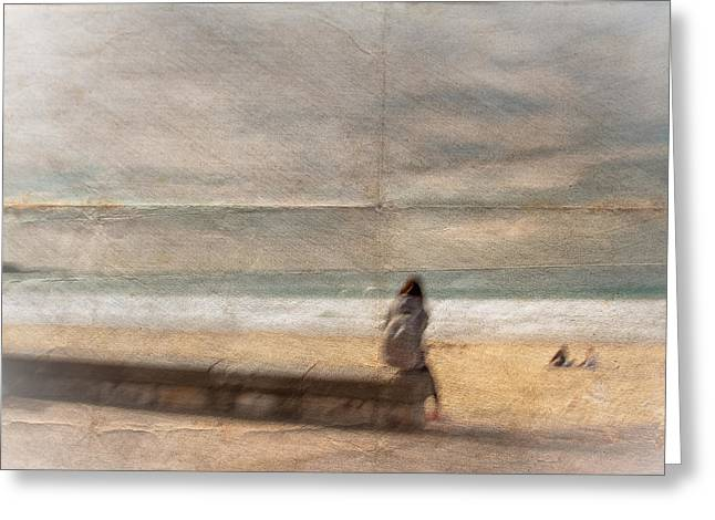 Seawall Greeting Cards - Quietude Greeting Card by Constance Fein Harding