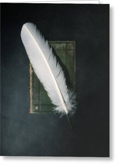 Book Greeting Cards - Quill And Book Greeting Card by Joana Kruse