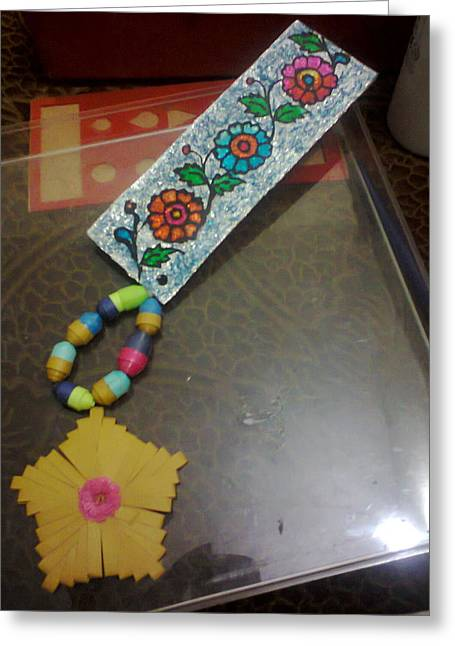 Wall-hanging Glass Greeting Cards - Quilling Bookmark Wall Hanging for sale Greeting Card by Deepshikha Dey