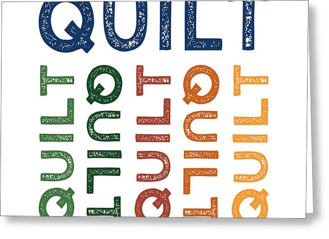 Quilt Cute Colorful Greeting Card by Flo Karp