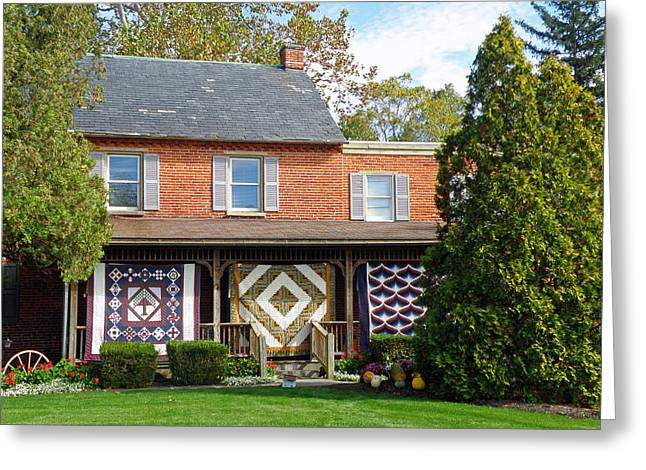 Quilt Maker's House Greeting Card by Jean Hall