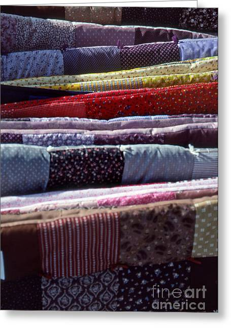 Hand Made Greeting Cards - Quilts Greeting Card by Skip Willits