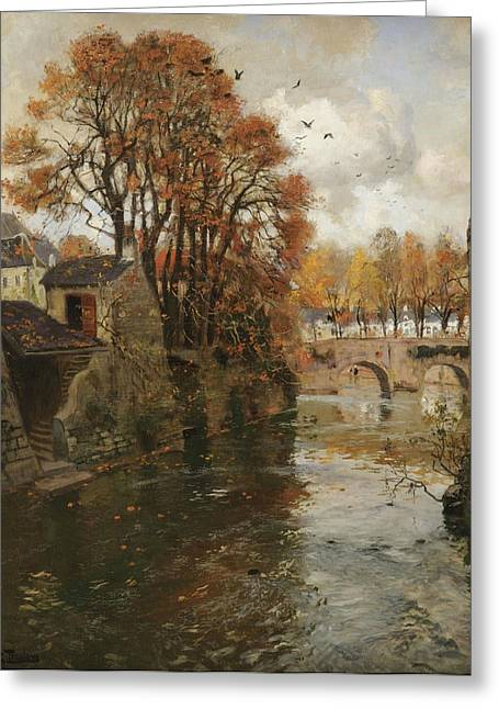 Thaulow Greeting Cards - Quimperle. Bretagne Greeting Card by Frits Thaulow