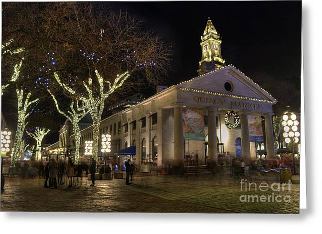 Historic England Greeting Cards - Quincy Market Boston Massachusetts Greeting Card by Juli Scalzi