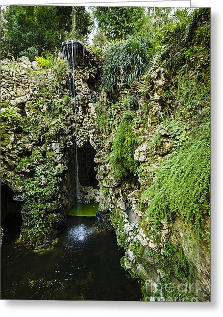 Quinta Da Regaleira Grotto Greeting Card by Deborah Smolinske